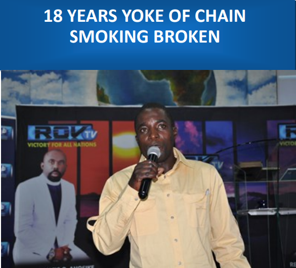 18 YEARS YOKE OF CHAIN SMOKING BROKEN
