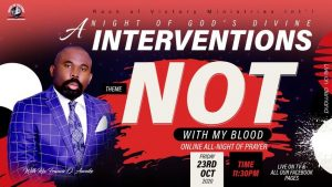 """""""NOT WITH MY BLOOD"""" UP COMING EVENT"""