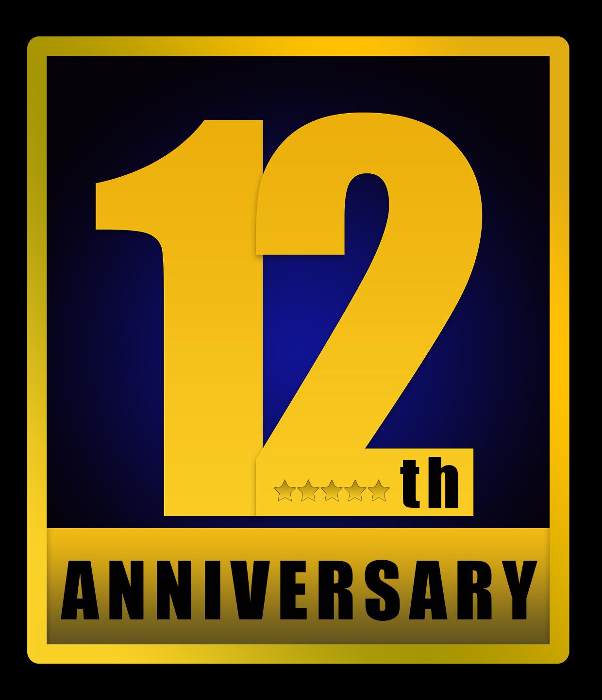 12 years anniversary 2021