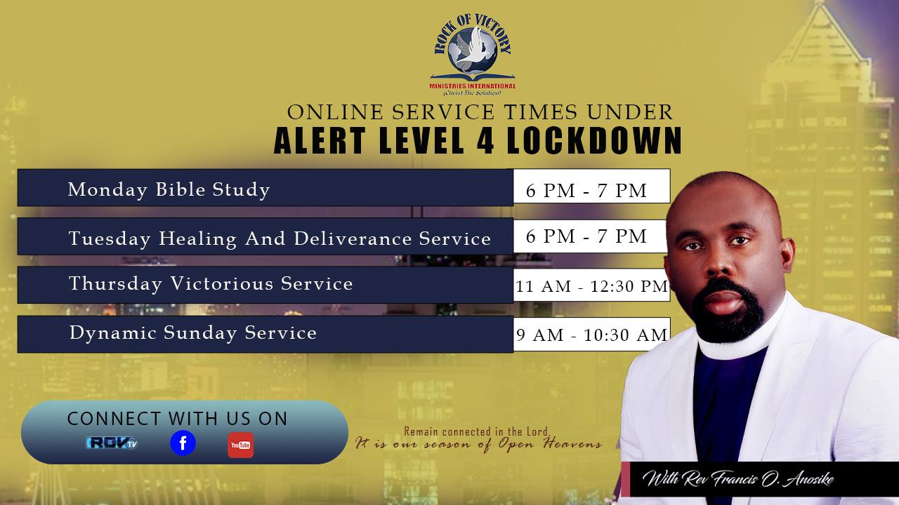 Online Service Times Under Alert Level 4 Lockdown